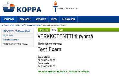 Remote Exam Timer