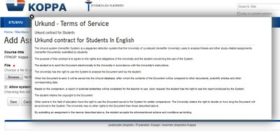 Urkund terms of service